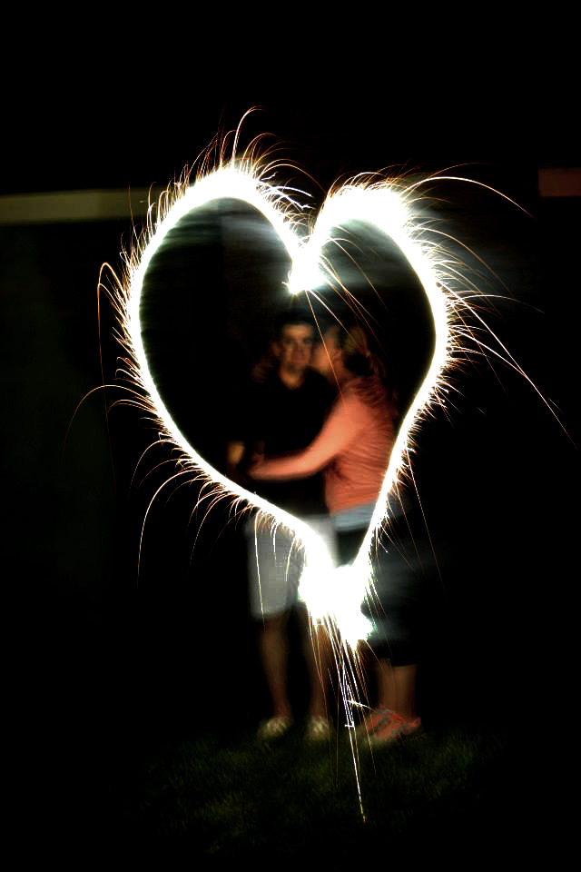 sparkler writing