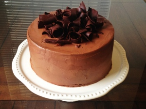Chocolate Curls Cake