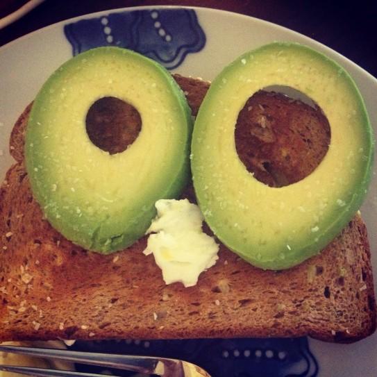 avocado, egg whites and wheat toast